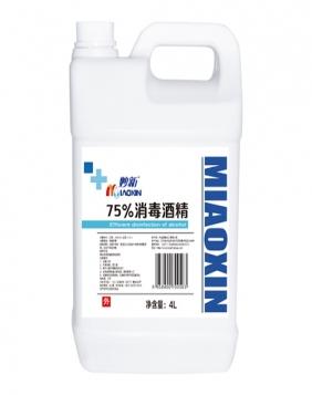 妙新75%消毒酒精4L